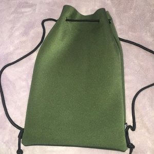 Brand new olive green Triangl drawstring backpack